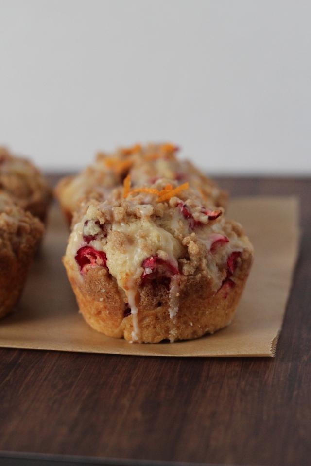 Cranberry-Orange Streusel Muffins Recipe via bakeforcoffee.com