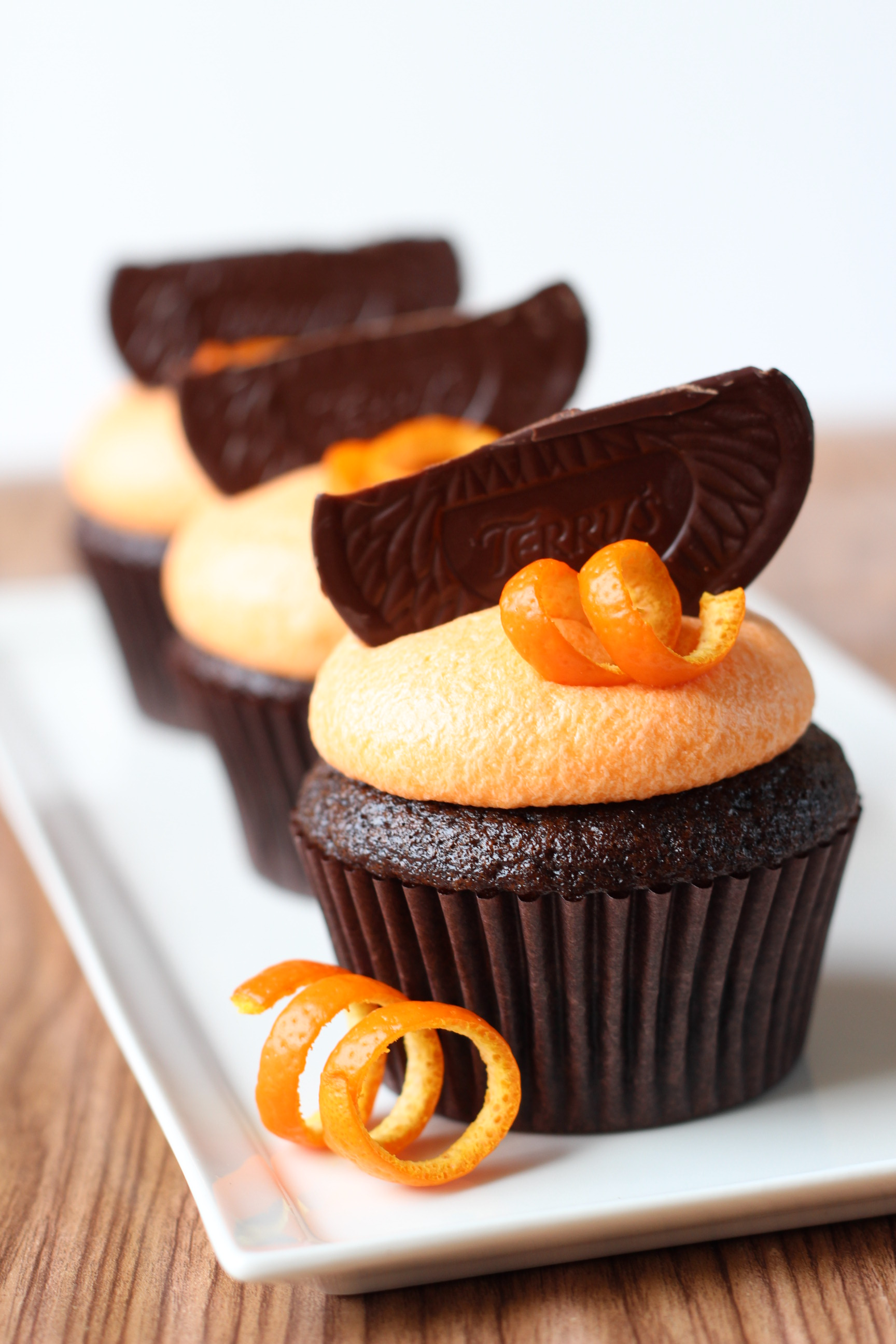 Dark Chocolate Orange Cupcakes | Bake for Coffee