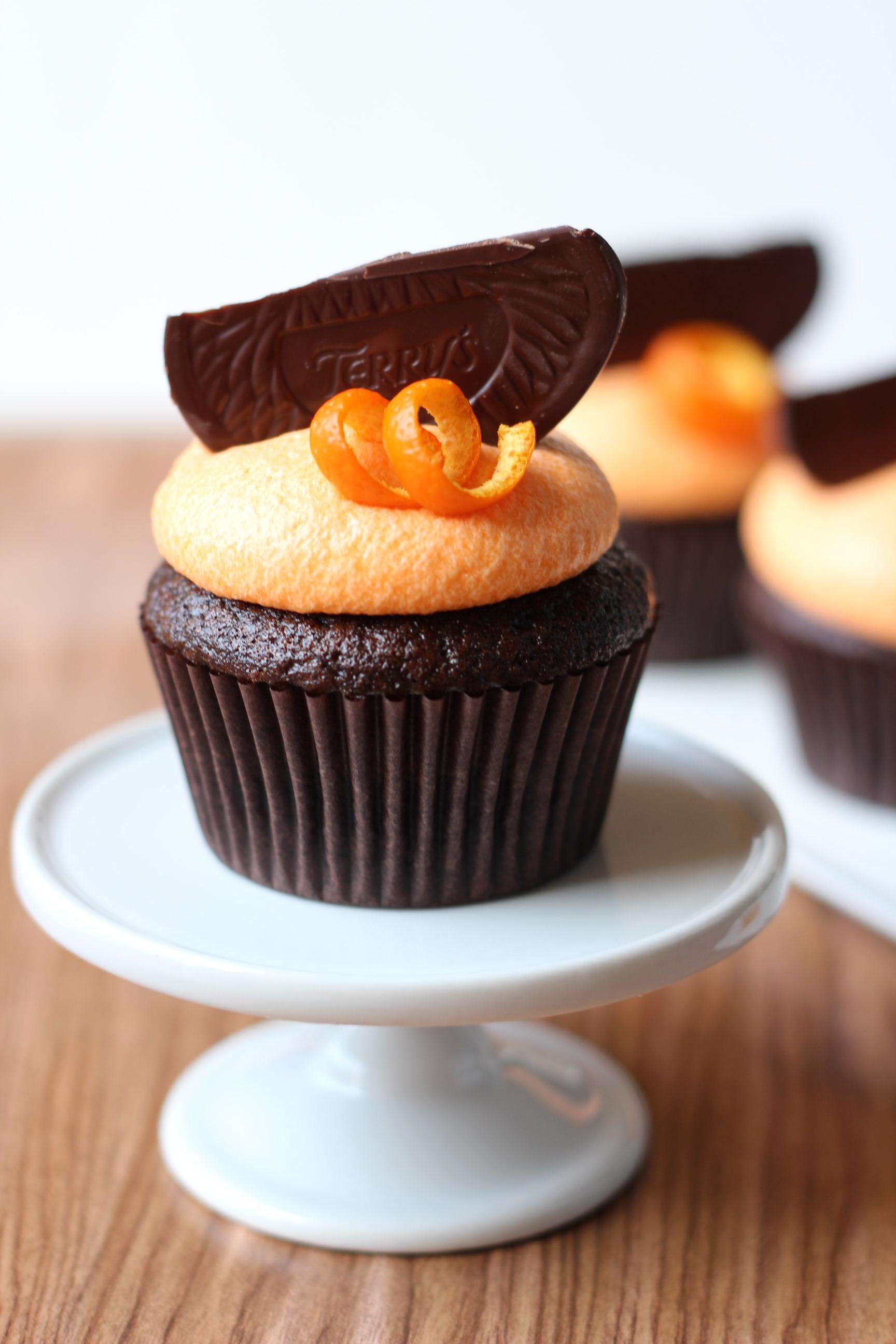 Dark Chocolate Orange Cupcakes Bake For Coffee