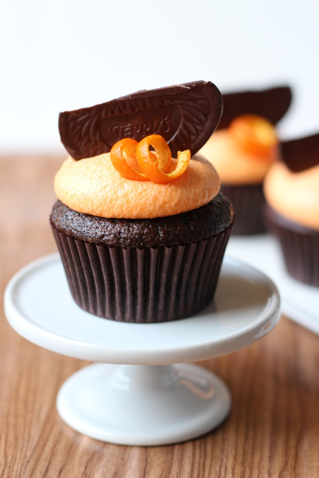 Chocolate Orange Cupcakes via bakeforcoffee.com
