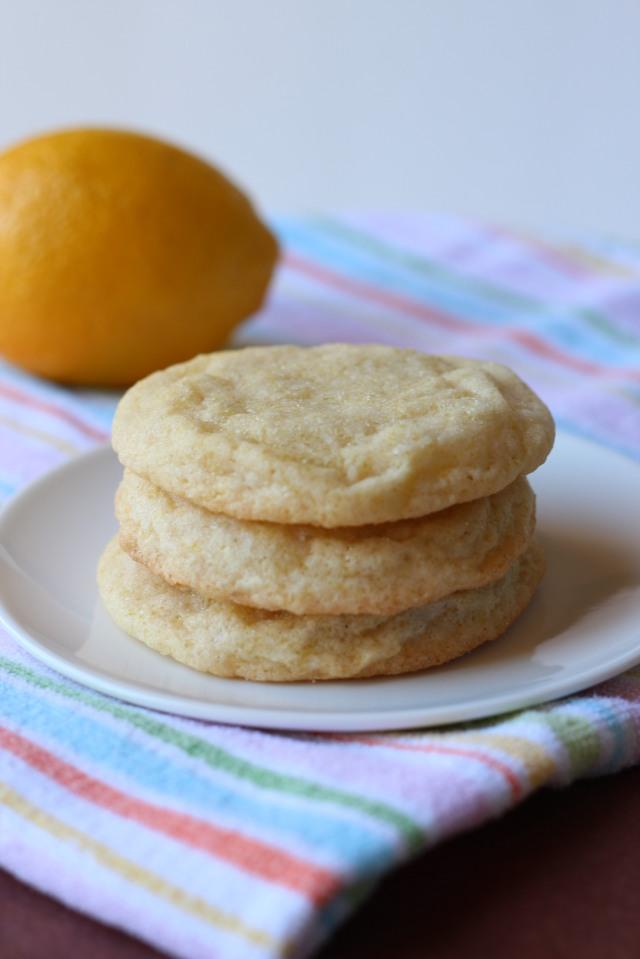 Lemon Chewy Sugar Cookies via bakeforcoffee.com
