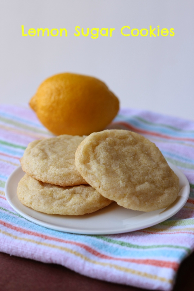Lemon Sugar Cookies via bakeforcoffee.com